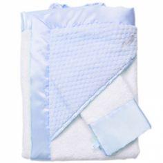 Cape de bain + gant de toilette Beryl bleu