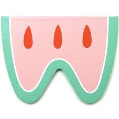Lettre décorative Pastèque W comme watermelon