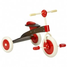 Tricycle en bois marron