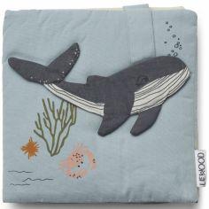 Livre bébé en tissu Sammy Sea creature bleu