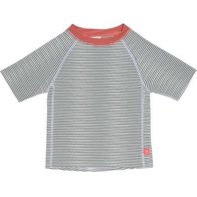 Tee-shirt anti-UV manches courtes rayé col corail (2 ans)  par Lässig