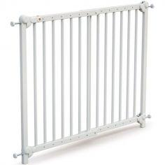Barrière de sécurité extensible en bois de hêtre Essentiel blanc