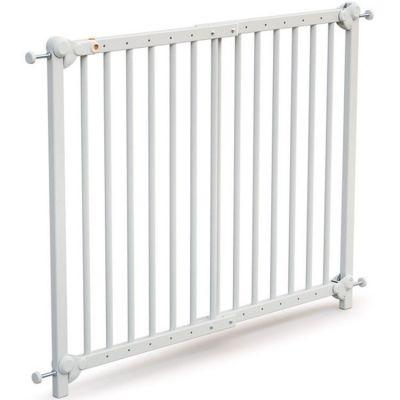 Barrière de sécurité extensible en bois de hêtre Essentiel blanc  par AT4