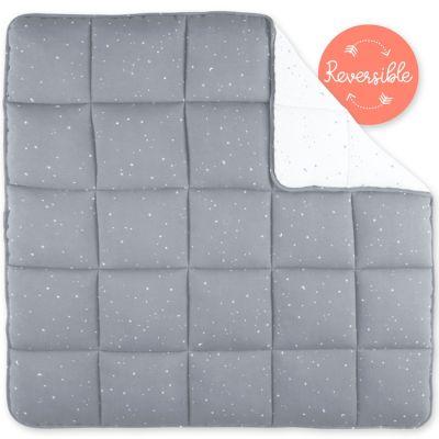 Tapis de parc réversible étoiles Stary frost gris (100 x 100 cm)  par Bemini
