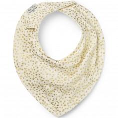 Bavoir bandana Gold Shimmer