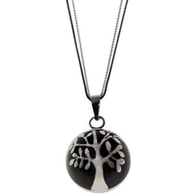 Bola sur cordon Estrella Color noir (argent 925°)  par Nativee