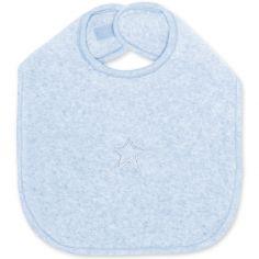 Bavoir à velcro Stary bleu frost à points (37 cm)