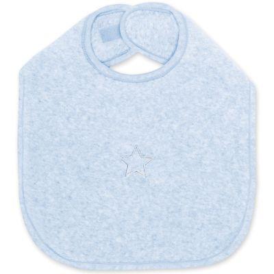 Bavoir à velcro Stary bleu frost à points (37 cm)  par Bemini