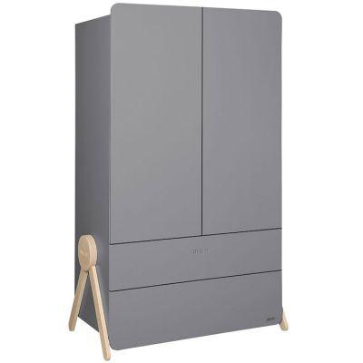 Armoire 2 portes et 2 tiroirs Swing gris  par Micuna