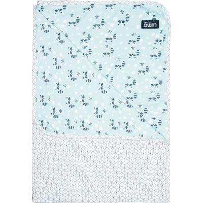 Serviette de bain Raton-laveur menthe (100 x 75 cm)  par Luma Babycare