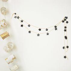 Stickers pour guirlande étoiles noires