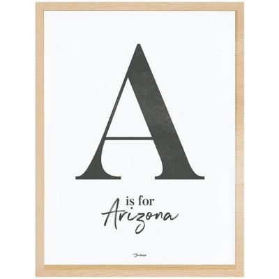 Affiche encadrée A is for Arizona (30 x 40 cm)  par Lilipinso