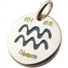 Médaille signe Verseau 14 mm (argent 925°)