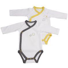 Lot de 2 bodies croisés manches longues Babyfan (1 mois : 54 cm)