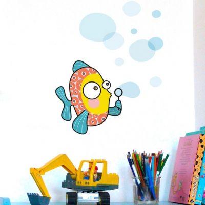 Sticker poisson-bulle  par Série-Golo