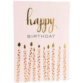 Carte d'anniversaire bougies - REX