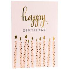Carte d'anniversaire bougies