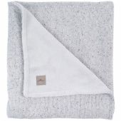 Couverture en tricot doux et teddy Confetti gris (100 x 150 cm) - Jollein