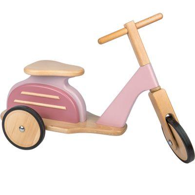 Draisienne Scooter en bois rose  par Moulin Roty