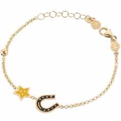 Bracelet sur chaîne Primegioie Lucky Fer à Cheval (or jaune 375°)