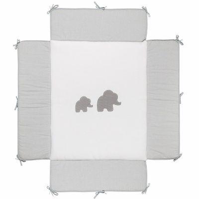 Tapis de parc Tembo gris (75 x 95 cm)  par Nattou