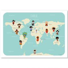 Affiche A4 Le monde des enfants (personnalisable)