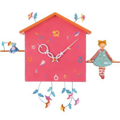 Horloge Alabonneheure La fille à l'ourson  par L'oiseau bateau