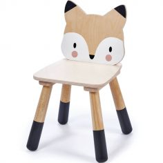 Chaise enfant renard en bois