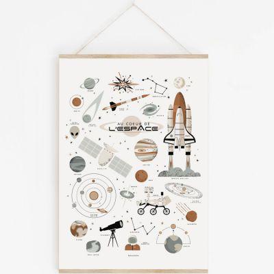Affiche A2 Au coeur de l'espace avec support  par Lutin Petit Pois