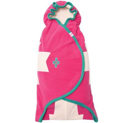 Couverture nomade polaire rose Wrapper clever (0-12 mois)  par Lodger