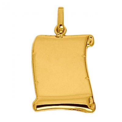 Pendentif Parchemin (or jaune 750°)  par Berceau magique bijoux