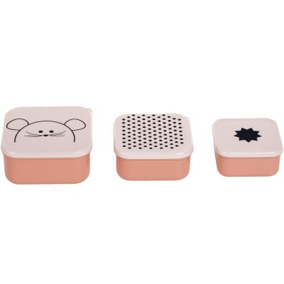 Lot de 3  boîtes à goûter Little Chums souris  par Lässig