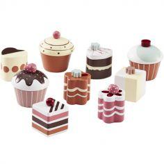 Gâteaux en bois Bistro (9 pièces)