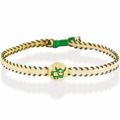 Bracelet cordon Primegioie Zodiaque Taureau (or jaune 375°)