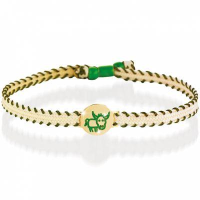 Bracelet cordon Primegioie Zodiaque Taureau (or jaune 375°)  par leBebé
