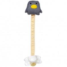 Attache sucette pingouin