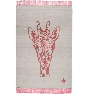 tapis rectangulaire pop girafe gris et rose 100 x 150 cm. Black Bedroom Furniture Sets. Home Design Ideas