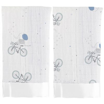 Lot de 2 mini langes doudous Issie Night sky reverie (40 x 40 cm)  par aden + anais