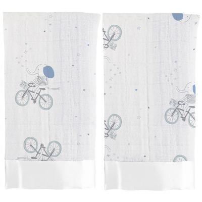 Lot de 2 mini langes doudous Issie Night sky reverie (40 x 40 cm)  par aden + anais