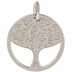 Médaille de naissance Romane personnalisable 18 mm (or blanc 750°)