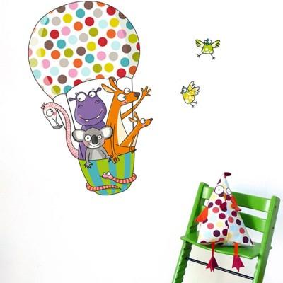Stickers animaux Montgolfière  par Série-Golo