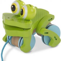 Grenouille à tirer en bois Frolicking Frog Pull T First Play