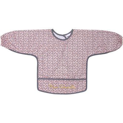 Bavoir à manches plastifié Miss Adorable rose et gris  par BB & Co