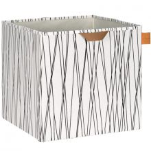 Cube de rangement jouets Allover rayures (32,5 x 33,5 cm)  par Lässig
