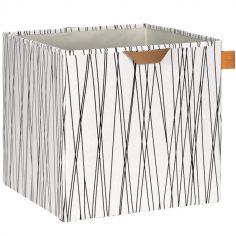 Cube de rangement jouets Allover rayures (32,5 x 33,5 cm)