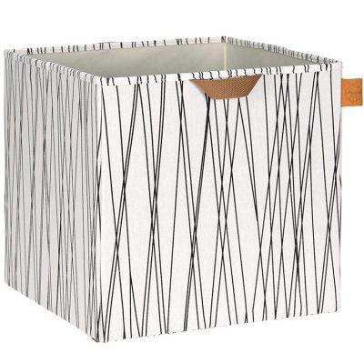 Cube de rangement jouets Allover rayures (32,5 x 33,5 cm) Lässig
