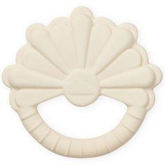 Anneau de dentition en caoutchouc fleur écru