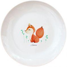 Assiette en porcelaine nouveau Renard (personnalisable)