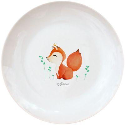 Assiette en porcelaine nouveau Renard (personnalisable)  par Gaëlle Duval