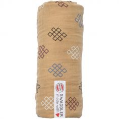 Maxi lange en coton Xandu miel (120 x 120 cm)